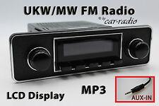 Retrosound Laguna TRIM-B DIN Oldtimer Radio AUX-IN MP3 Komplettset L502B076036