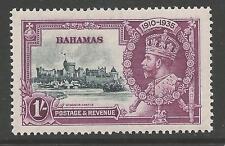 BAHAMAS SG144h 1935 SILVER JUBILEE 1/= DOT BY FLAGSTAFF MTD MINT
