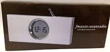LCD Digital Alarm Clock with FM Scan Radio  12 Months Warranty
