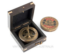 Vintage Nautical Sundial Compass Brass Antique Jacko Boot Polish Screw Top