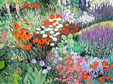 PAINTING FLOWERS BLOOMS POPPY GARDEN FLORISTRY COLOUR ART POSTER PRINT LV2520