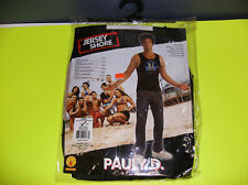 JERSEY SHORE PAULY D. MEN HALLOWEEN COSTUME TATTOO SHIRT LARGE
