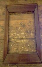 minature antique rectangular  oak frame