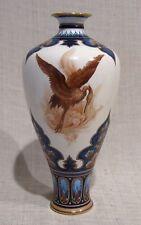 "Hadleys Worcester 8 3/4"" Vase with Heron Bird"