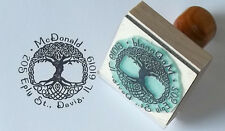 Custom Celtic Tree of Life address or bookplate rubber stamp by Amazing Arts