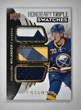 2017-18 Upper Deck Trilogy Honorary Triple Swatches #AN Alexander Nylander /49