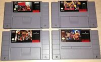 Super Nintendo SNES Lot of 4 Fighting games Boxing Ring Foreman Shaq Fu Karate