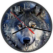 "8"" WALL CLOCK - Wolf 7 Wolves Spiritual - Kitchen Office Bathroom Bar Bedroom"