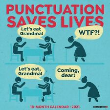 Punctuation Saves Lives 2021 Wall Calendar (Free Shipping)