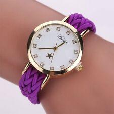 Women Ladies Fashion Dress Star Wrist Watch Braided Watch Wristwatch