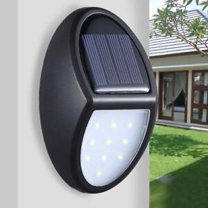 10 LED Solar Power Wall Mounted Light Garden Yard Outdoor Fence Lamp Waterproof