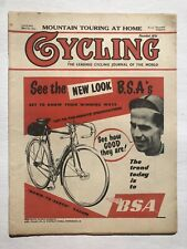 May 1954 Cycling Magazine from England The New Look of BSA Bicycles