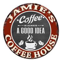 CPCH-0146 JAMIE'S COFFEE HOUSE Chic Tin Sign Decor Gift Ideas