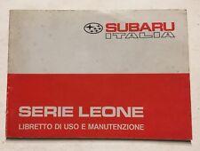 Manuale Uso e Manutenzione Subaru Leone In Italiano