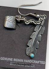Single Sterling Silver and Turquoise Cuff Climber Earring