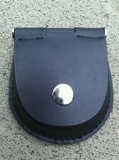 Pocket Watch Leather Case Pouch Storage Holder Black Box Bag Belt Attachment New