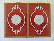 Vintage Congress Plastic Playing Card Game Double Deck Flowers 2 Packs Canasta