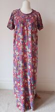Ladies Oriental Dress Size S/M Long Maxi Short Sleeve Floral Embroidered B16