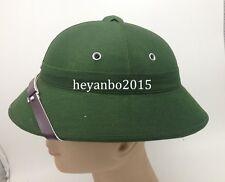 VIETNAM WAR HAT NVA VIETCONG VC PITH HELMET JUNGLE EXPLORER CAP GREEN