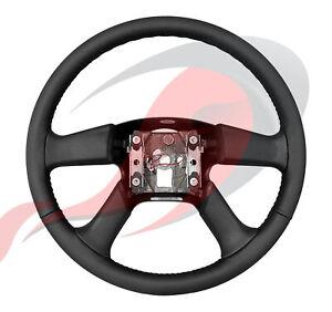 2003-2009 Silverado Sierra Tahoe Suburban Black Leather Steering Wheel 10364494