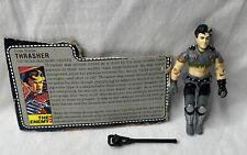New listing Vintage 1986 G.I. Joe Thrasher Figure Complete w/ Weapon & File Card
