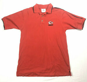 Kansas City Chiefs Polo NFL Shirt Medium KC Football Red Short Sleeve Champions