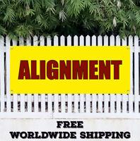 ALIGNMENT Advertising Vinyl Banner Sign Sale Fix Repair Align Auto Car Repair