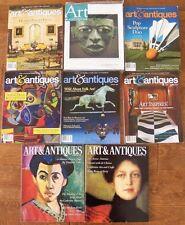Lot 8 Art & Antiques Magazine Includes 1 Brand New November 2007 Top Treasures