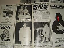 RUDOLF NUREYEV clipping ritaglio articolo foto photo fotografia 1977