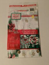 Vintage Kitchen Mate Plastic Christmas Tablecloth 54 X 72 In Brand New
