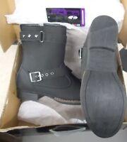 NOS Joe Rocket Ladies Moto Adira Boot Black Size 9 1509-009