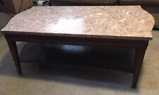 Vintage Older Wood Marble Top Coffee Table 41.5 Lx 21 W x 16 H