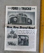 Original  1948  New  Ford  Bonus Built Trucks for '48 Sales Booklet