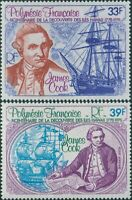 French Polynesia 1978 Sc#C154-C155,SG266-267 Discovery of Hawaii set MNH