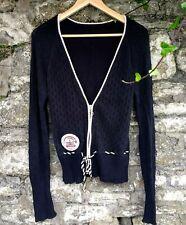 Blutsgeschwister Cardigan, black, cotton, zip, retro size S/M