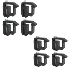 8 PCS Truck Cap Topper Camper Shell Mounting Clamps Heavy Duty Tl-2002 Black