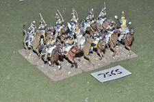 25mm napoleonic british light dragoons 12 cavalry (7565) painted metal