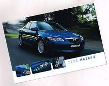 2003 Mazda 6 mini Brochure : Mazda6