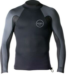 XCEL Men's 1/0.5mm AXIS Neostretch Smart Fiber LS Top - BKG - Small - NWT