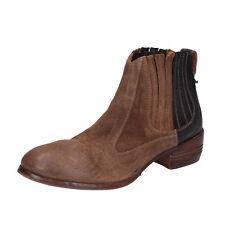 scarpe donna MOMA 37 EU tronchetti marrone camoscio pelle BT16-37