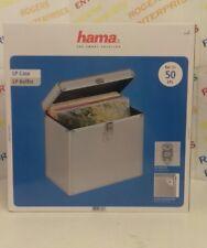 Hama  Aluminium Look LP Record Case Holds 50 LP's NEW