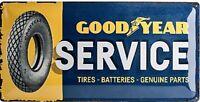 Goodyear Service Große Geprägtes Metall Zeichen 500mm x 250mm (Na )