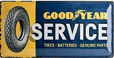 Goodyear Service large embossed metal sign 500mm x 250mm (na)