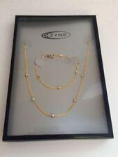 Conjuntos de bisutería de cristal de cristal de color principal oro