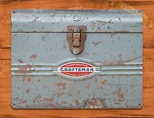 "TIN-UPS TIN SIGN ""Craftsman  Toolbox"" Tools Vintage Garage Rustic Wall Decor"