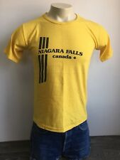 NIAGARA FALLS CANADA Shirt 60s 70s Vintage Yellow Tourist National Park USA L