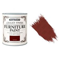 Rust-Oleum Craie Crayeux Meuble Peinture Usé Chic 125ml Feu Brique Mat
