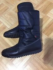 GUCCI WINTER LEATHER FABRIC QUILTED FUR INSIDE FLAT BOOTS SIZE 7 ITALY