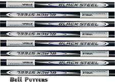 Eight (8) Apollo Stepless Steel Golf Iron Shaft-R/S Regular/Stiff Flex-Black