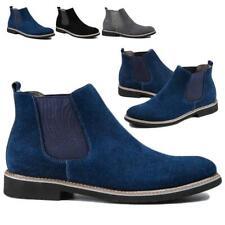 Men's Flat Suede Ankle Slip On Ankle Boots Smart Chelsea Boots Chelsea Shoes sz